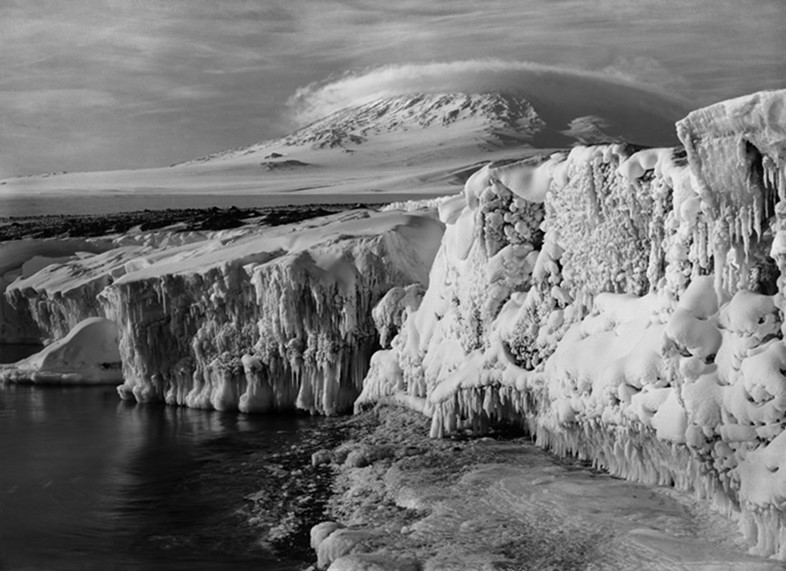 Mt. Erebus and a Dome Cloud, Scott Expedition, Ant