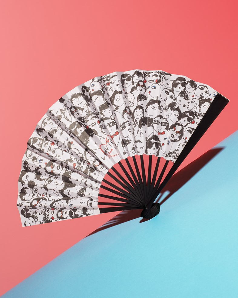 Fan from Lanvin's 10th anniversary show