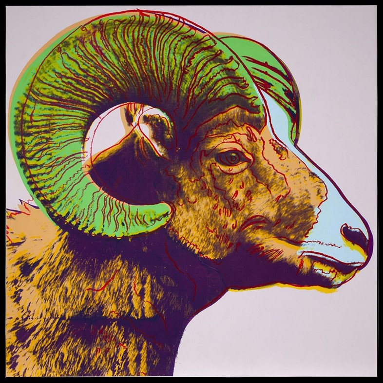 Andy Warhol, Endangered Species (Ram), 1983