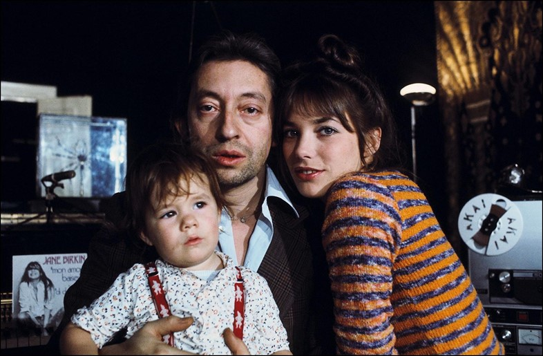 Serge Gainsbourg with Jane Birkin and daughter Charlotte Gai