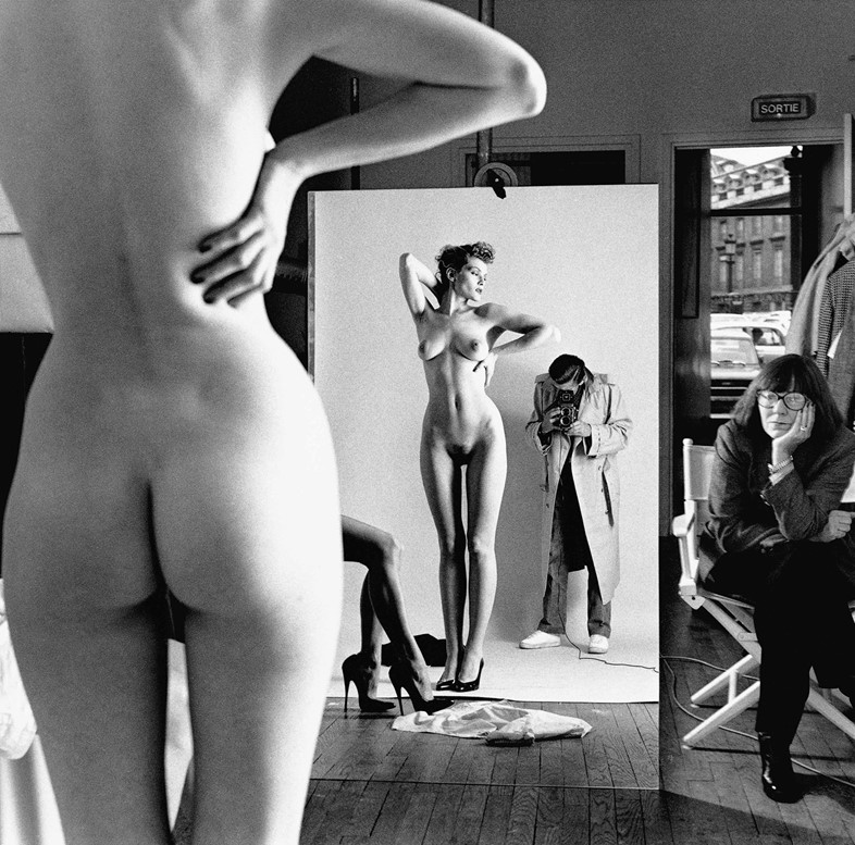 Self-Portrait-with-Wife-and-Models-Paris-1981-C-He