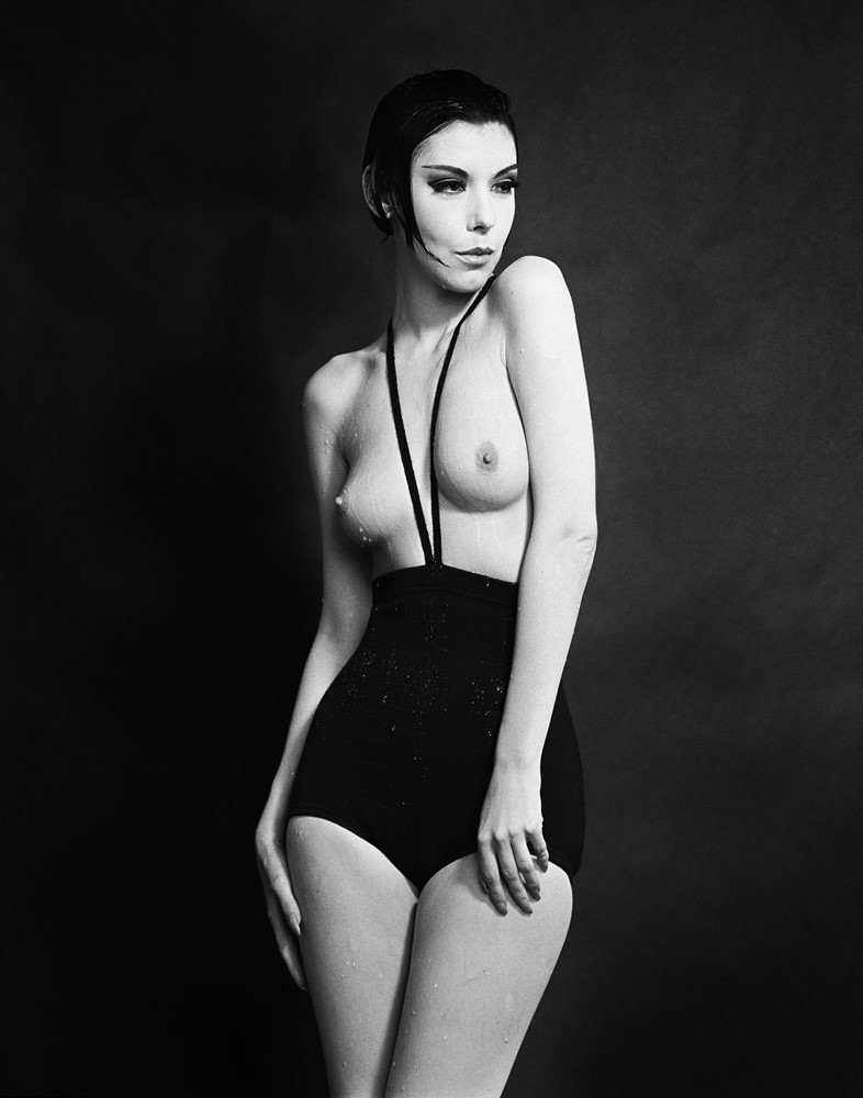 Peggy Moffitt in Rudi Gernreich, Topless Swimsuit