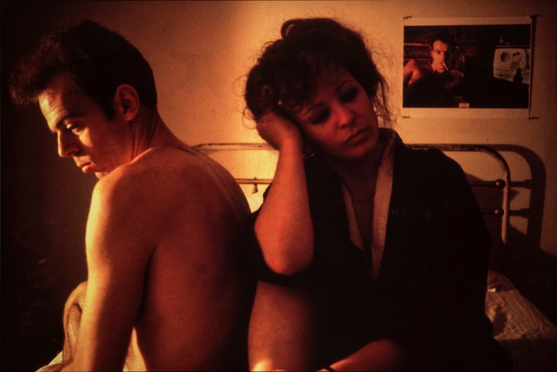 Nan Goldin, Self-Portrait in Kimono with Brian, NYC, 1983