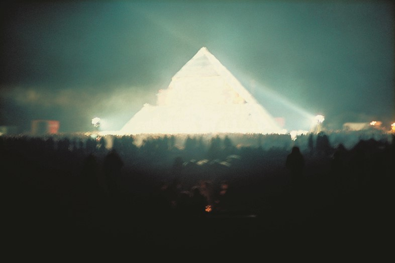The Pyramid Stage at Glastonbury Fair, 1971