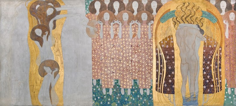Klimt_Beethoven Frieze_The Arts, Chorus of Paradis