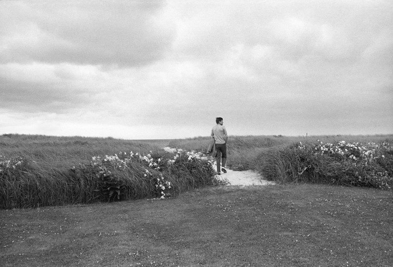 JFK on the dunes near Hyannis Port, 1959