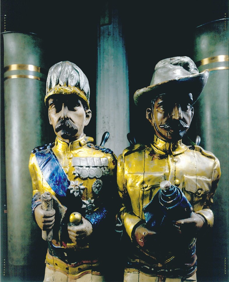 2-Fairground-Carved-Figures-in-Andy-Warhol's-Wareh