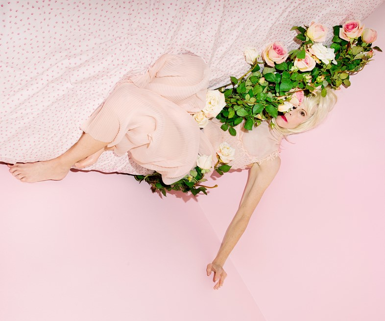 Mother in my bed with roses, from the series Natur