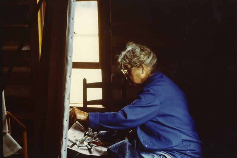 Alice Neel in her Vermont studio c.1973
