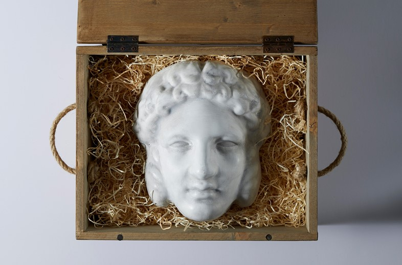 Gucci AW19 Fall 2019 invitation mask head Hermaphroditus