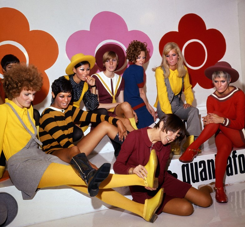 Mary Quant and models at the Quant Afoot footwear