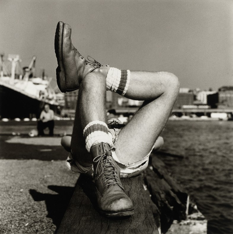 Peter Hujar, Christopher Street Pier #2 (Crossed Legs), 1976