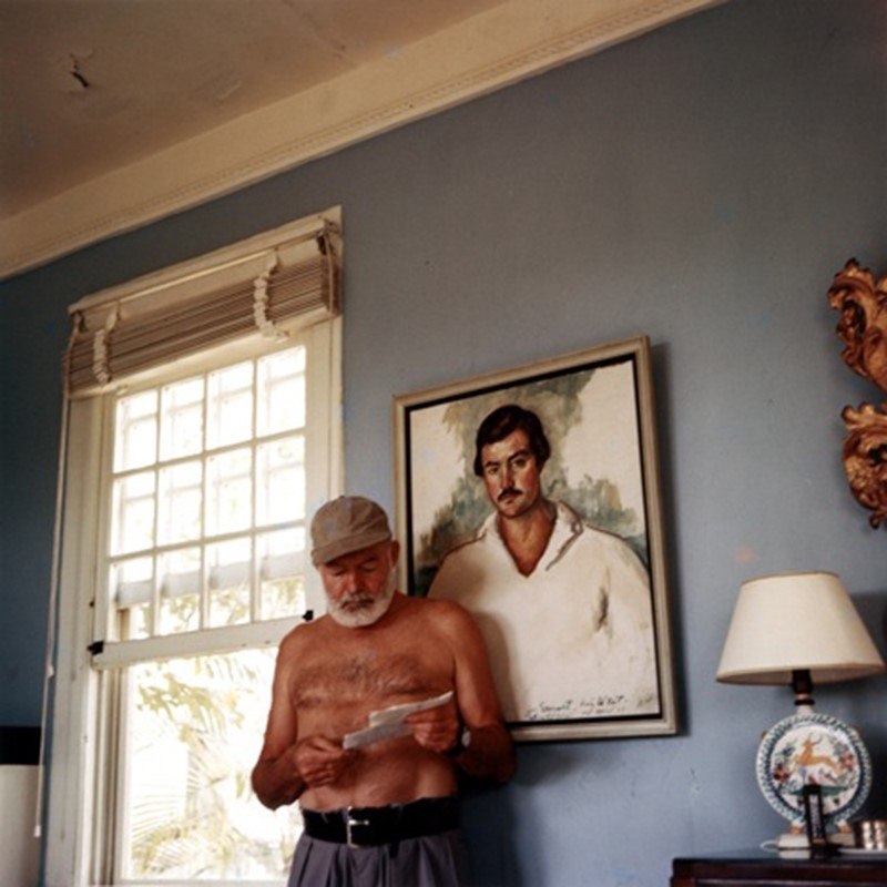 Ernest Hemingway at his villa Finca Vigía, Cuba, in 1953
