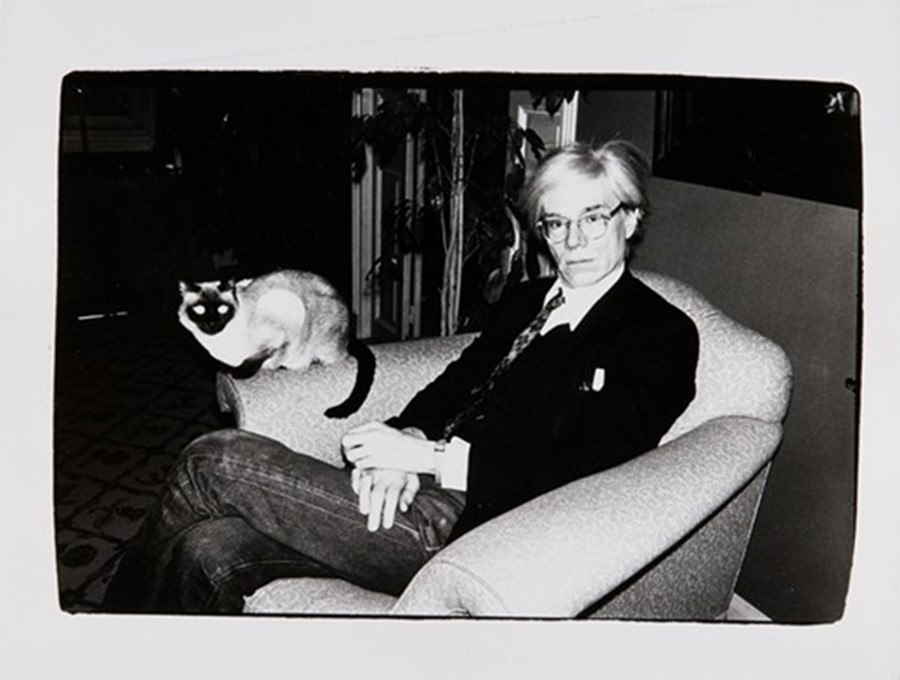 Andy Warhol with Cat