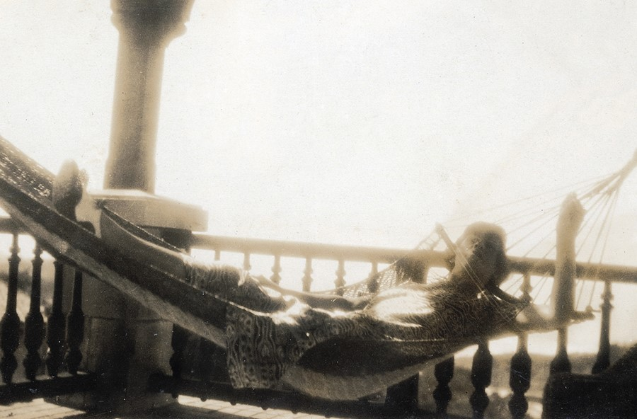 Mademoiselle Chanel on the beach in Biarritz in 1920