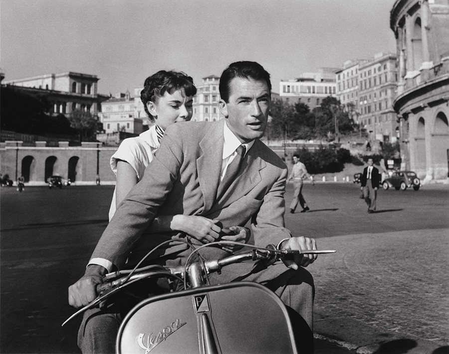Audrey Hepburn and Gregory Peck in Roman Holiday, 1953