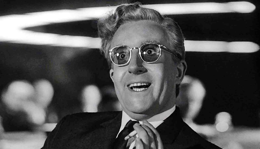 Peter Sellers in Dr Strangelove or: How I Learned to Stop Wo
