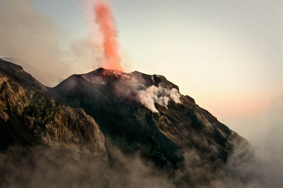 Stromboli, one of the Aeolian Islands in Italy