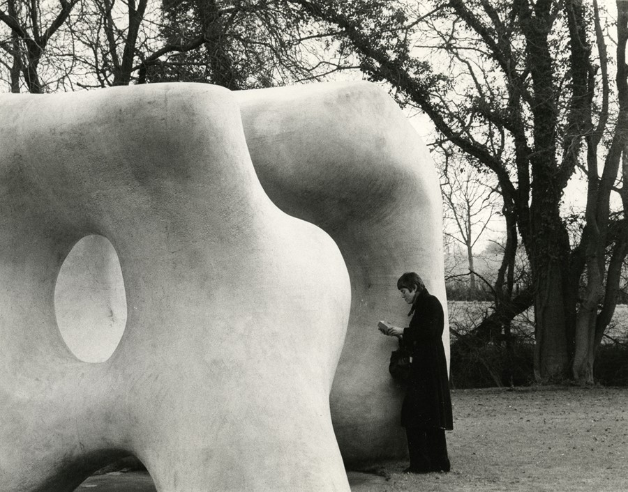 Andre Kertesz, Henry Moore Sculpture with Woman Re