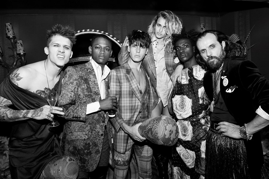 Alice Dellal and the Vivienne Westwood UNISEX gang