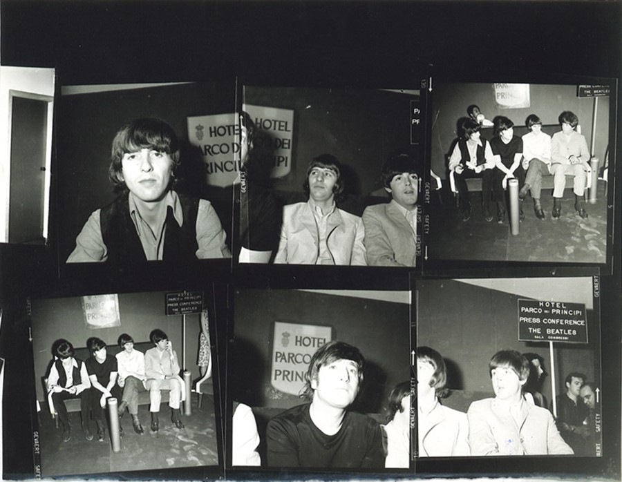 Marcello-Geppetti,-Beatles-Press-Conference-at-Hot