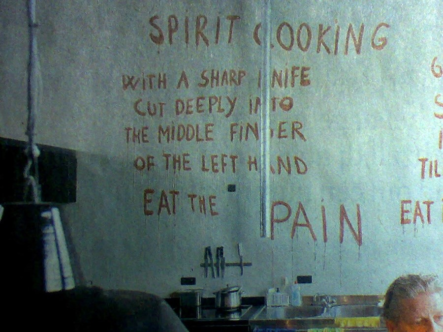 Marina Abramovic's Spirit Cooking 3