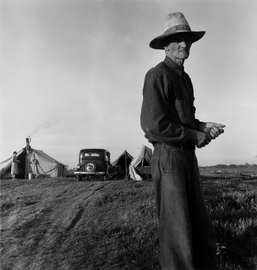 4. Dorothea Lange, Drought Refugees, ca. 1935, the