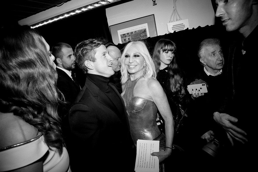 Daniel Lee and Donatella Versace at The Fashion Awards 2019