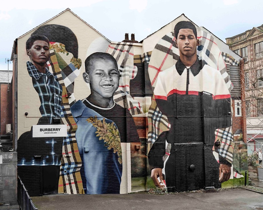 Mural images_Burberry Manchester Artwork by Jazz G