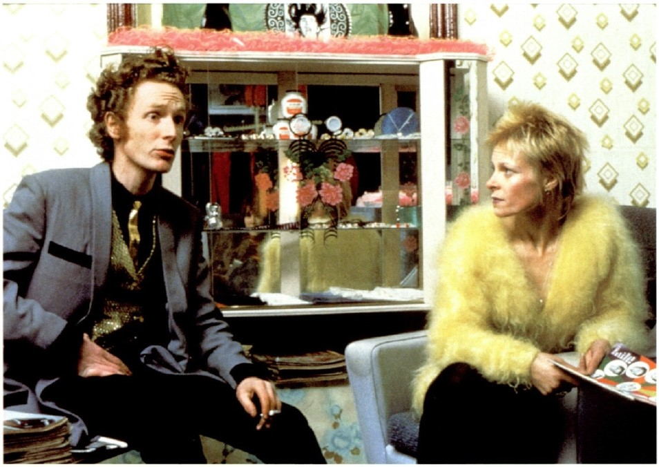 Malcolm McLaren and Vivienne Westwood inside Let It Rock, 19