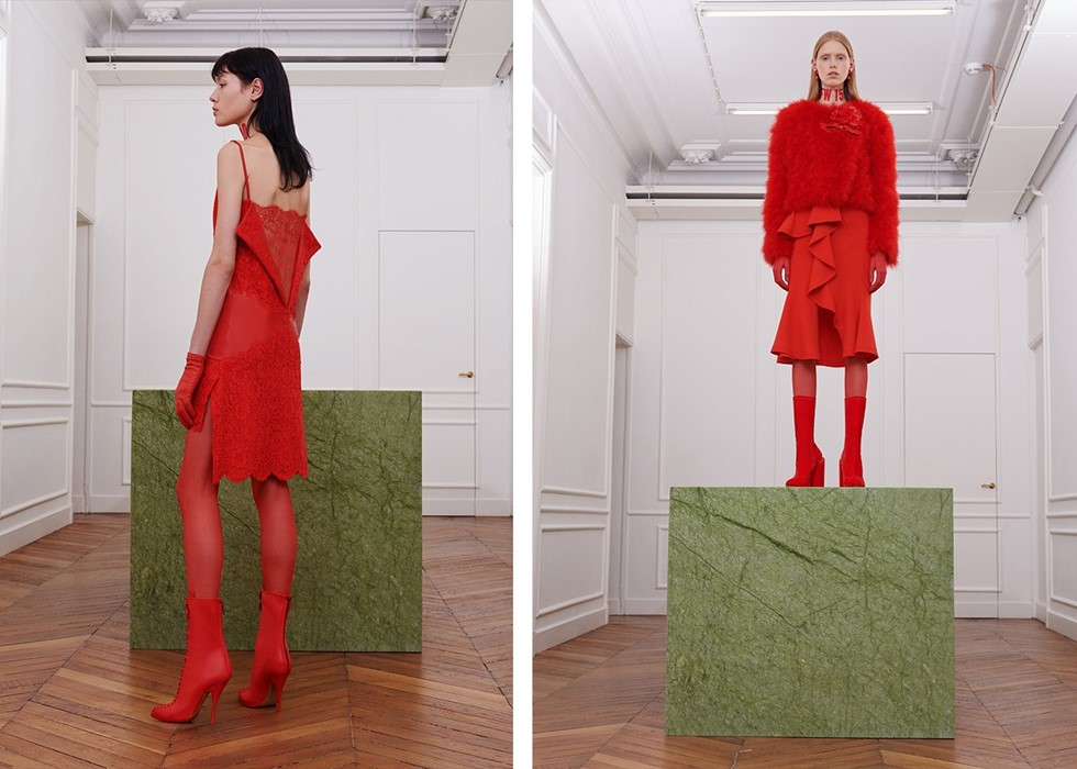 0586b9895352 The Givenchy Studio Pays Homage to Riccardo Tisci in Red